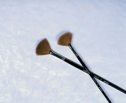 PURE SABLE FAN BRUSHES #2 and #6