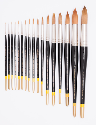 RICHESON 9000 series Sizes 4/0 and 2/0 round brushes (2 pc.)