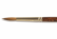 "Richeson Sable SET OF 5 Brushes - sizes 3, 8 & 12 rounds and sizes 3/4"" & 1"" flats"