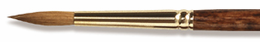 Richeson Sable SET OF 5 Brushes - sizes 3, 8 & 12 rounds and sizes 3/4