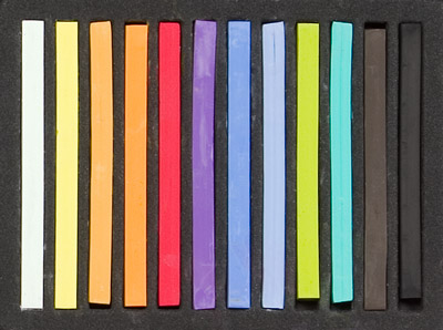 Richeson Semi-Hard Square Pastels - Set of 12