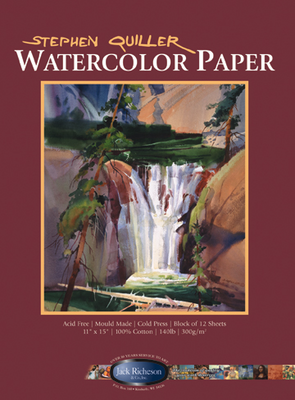 "RICHESON WATERCOLOR PAPER BLOCK 22"" x 30"" 140 lb. Cold Press in 10 sheet packs"