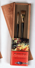"Richeson Wooden Box Sable Brush - Set of 2 (#14 round & 1"" flat)"