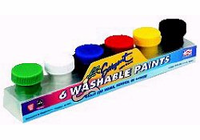 Sargent 6 WASHABLE PAINTS (6 jars .75 fl.oz. each)