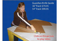 "SAWTRAX Guardian Knife Guide 36"" (BOX OF 4 PIECES)"