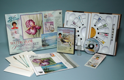 SCHEEWE DELUXE WATERCOLOR SET WITH DVD - Click to enlarge