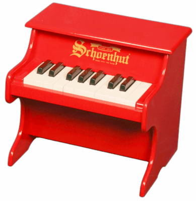 Schoenhut Tabletop�Pianos - 18�Key�My�First�Piano 1822 - Click to enlarge