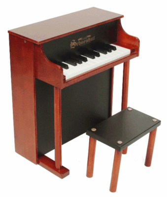 Schoenhut Upright�Pianos - 25�Key�Traditional�Spinet - Click to enlarge