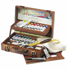Sennelier DELUXE ARTIST OIL WOOD SET 22 COLORS 34ML