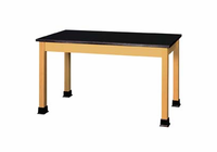 SHAIN Lab Table - plain - black plastic lam (Quick Ship)
