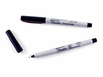Ultra Fine Sharpie vs Extra Fine Sharpie Extra Fine Point Black