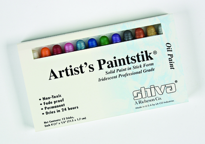 Shiva Oil Paintstik , Set of 12, Iridescent Colors
