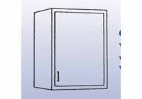 Single Door Unit - Wall Mounted Cabinet-6 Wt-45