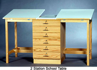 SMI 2 Station Drafting Table