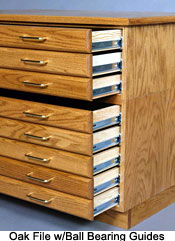 SMI OAK FLAT FILE with Cap & Base  - Click to enlarge