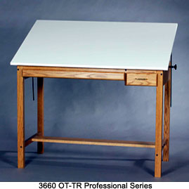 SMI PROFESSIONAL SERIES DRAFTING TABLE Wood Four-post Table