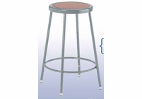 Diversified Woodcrafts HARDBOARD SEAT STEEL STOOL - 18""