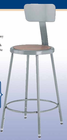 "Steel Stool w/ Backrest - 18"" High"