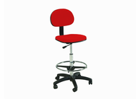 Stiletto Drafting Height Chair Seating in Red