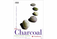 Strathmore CHARCOAL PAD 9� x 12� assorted tints (24 sheets, 64 lb.)