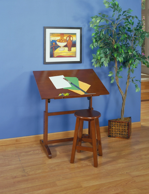 Studio Designs Creative Table and Stool Set (Walnut) - Click to enlarge