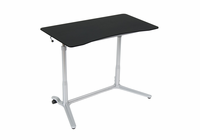 STUDIO DESIGNS / CALICO Sierra Adjustable Height Desk Silver / Blk