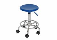 STUDIO DESIGNS Studio Stool / Blue / Chrome