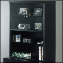 Studio RTA Geneva File Hutch (Black/Clear Glass)