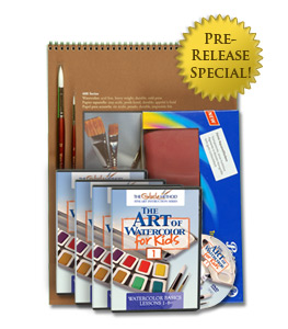 The Art of Watercolor for Kids Complete Package - Click to enlarge