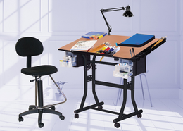 The Creation Station Table Combo Package with Drafting high chair - Click to enlarge