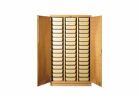 Tote Tray Cabinet - 48 trays