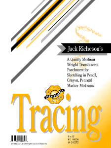 "TRACING PAPER by Jack Richeson and Co. 11"" x 14"" - 50 sheets"