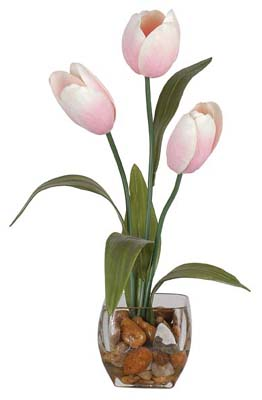 Tulips Liquid Illusion Silk Plant - Click to enlarge