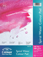W&N Cotman Water Color PAPER 16 X 12 in (140 lbs. 12 sheets SPIRAL)