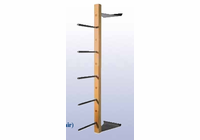 Wall Mounted Lumber Rack - 5-Arms