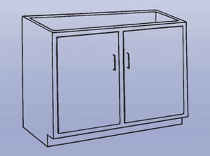 Wood High Base - double doors
