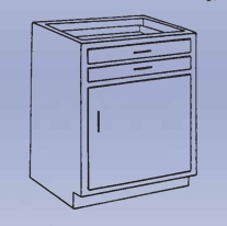 Wood Low Base - 1 drawer/single door-8