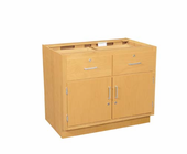 Wood Low Base - 2 drawer/double doors