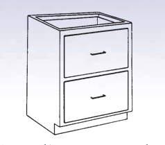 Wood Low Base - 2 file drawers