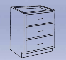 Wood Low Base - 3 drawer-10