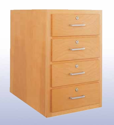 Wood Low Base - 4 drawers-10