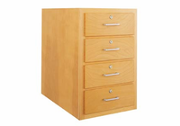 Wood Low Base - 4 drawers