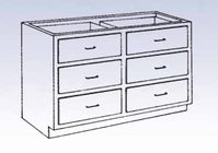 Wood Low Base - 6 drawers-15