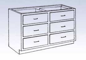 Wood Low Base - 6 drawers-20