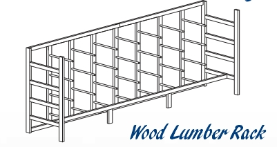 Wood Lumber Storage Rack