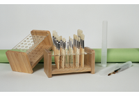 WOODEN/ACRYLIC BRUSH HOLDER