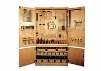Woodworking Tool Storage Cabinet - 48""