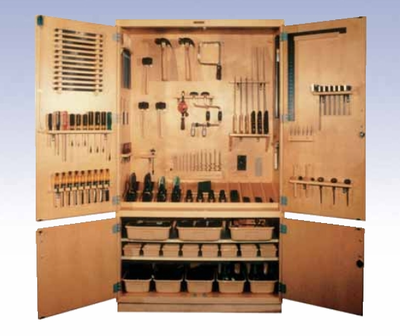 "Woodworking Tool Storage Cabinet – 48"" w/Tools"
