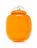 Amber Flores Collection Hand Blown Glass Cremation Urn