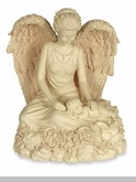 Angel and Child Keepsake Cremation Urn